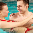 Couple in water — Stock Photo #11634365