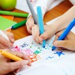 Colorful drawing - Stock Photo