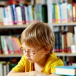 Stockfoto: Reading in library
