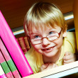 Boy in library — Stock Photo #11634509