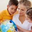 Stockfoto: Studying geography
