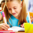 Stock Photo: Girl drawing