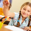 Successful schoolchild — Stock Photo