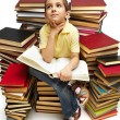 Stock Photo: Reading boy
