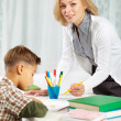 Tutor with pupil — Stock Photo