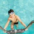 Stock Photo: Boy in pool