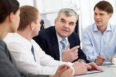 Discussion of strategy — Stock Photo