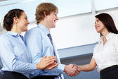 Shaking hands — Stock Photo