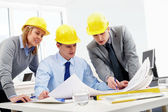 Three architects — Stock Photo
