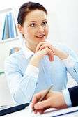 Attentive female — Stock Photo