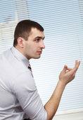 Businessman reasoning — Stock Photo