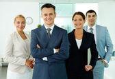 Gelukkig managers — Stockfoto