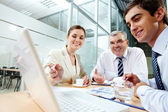 Sitzung im büro — Stockfoto