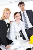 Team van ingenieurs — Stockfoto