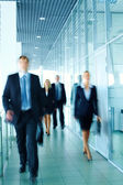 Businessman with team — Stock Photo