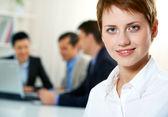 Attractive employer — Stock Photo