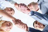 Two handshakes — Stock Photo