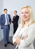 Boss and her colleagues — Stock Photo