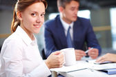 Secretário durante reunião — Foto Stock