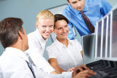Small business group — Stock Photo
