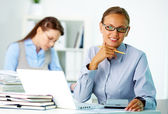Female employer — Stock Photo