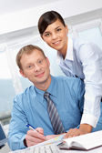 Pair of colleagues — Stock Photo