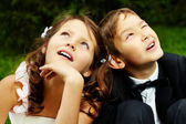 Boy and girl — Stock Photo