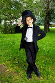 Boy in tux — Stock Photo