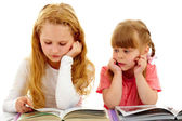 Reading lesson — Stock Photo