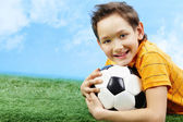 Lad with ball — Stock Photo