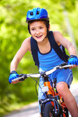 Young bicyclist — Stockfoto