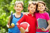 Sportiga vänner — Stockfoto