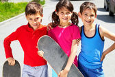 Young skaters — Stock Photo