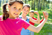 Strong children — Foto Stock