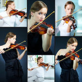 Violin player — Stock Photo