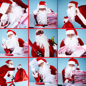 Santa Claus in action — Stock Photo