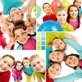 Team of kids — Stock Photo