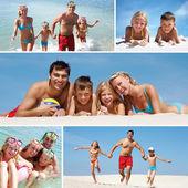 Familie op vakantie — Stockfoto