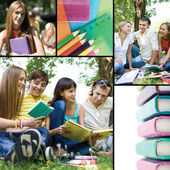 Collage of education — Stock Photo