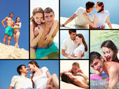 Romantic collage — Stockfoto