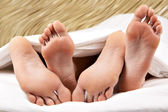 Feet hug — Stock Photo