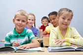 Diligent pupils — Stock Photo