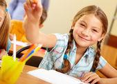 успешный школьник — Стоковое фото