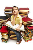 Reading boy — Stock Photo