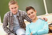 Friendly teenagers — Stock Photo