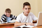 Clever pupil — Stock Photo