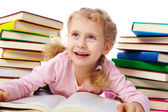 Little reader — Stock Photo