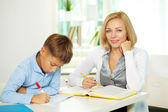 Working at lesson — Stock Photo