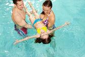 Enseñar a nadar — Foto de Stock