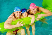 Family of swimmers — Foto Stock